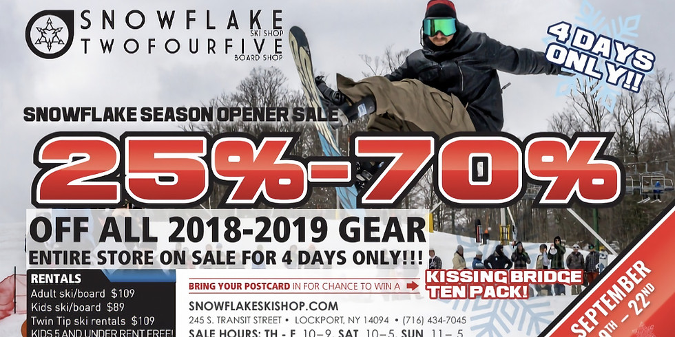Season Opener Sale!