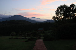 western mountains at dusk