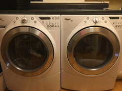 large capacity Whirlpool front loading washer and dryer