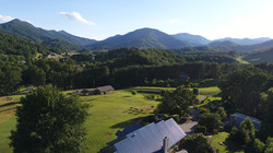 aerial view of Newfound valley and mountains