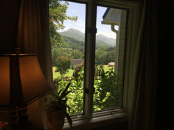 mountain view from the master bedroom