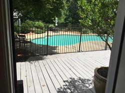 half bath access to pool