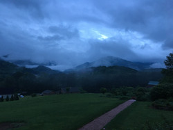 storm on the mountains