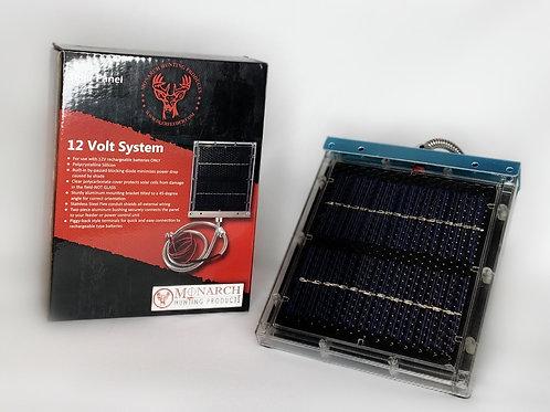 12 Volt Solar Panel W/ Bracket