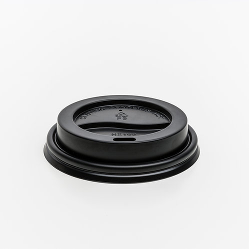 Recyclable 8oz Lid - Black - Carton - 1,000 lids
