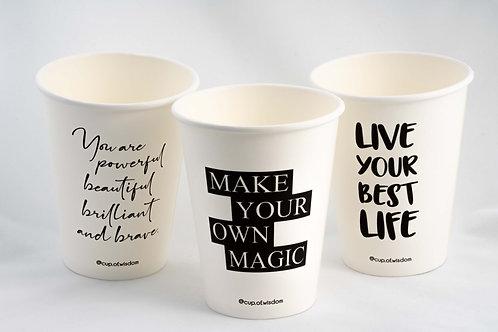 12oz Single Wall - Hot paper cup 1 carton - 1,000 cups