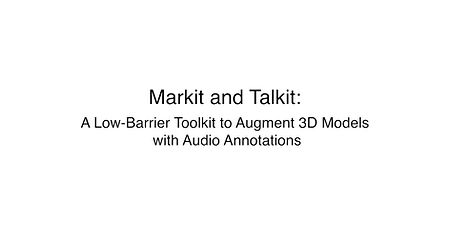 Markit and Talkit video