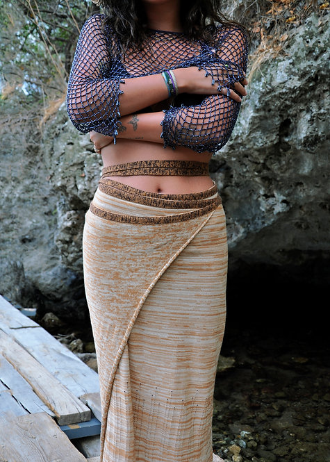 Knit Sarong - Beige