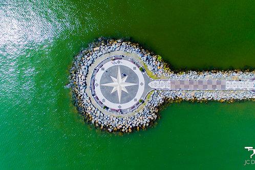 Molhe da Barra Sul Visto de Cima