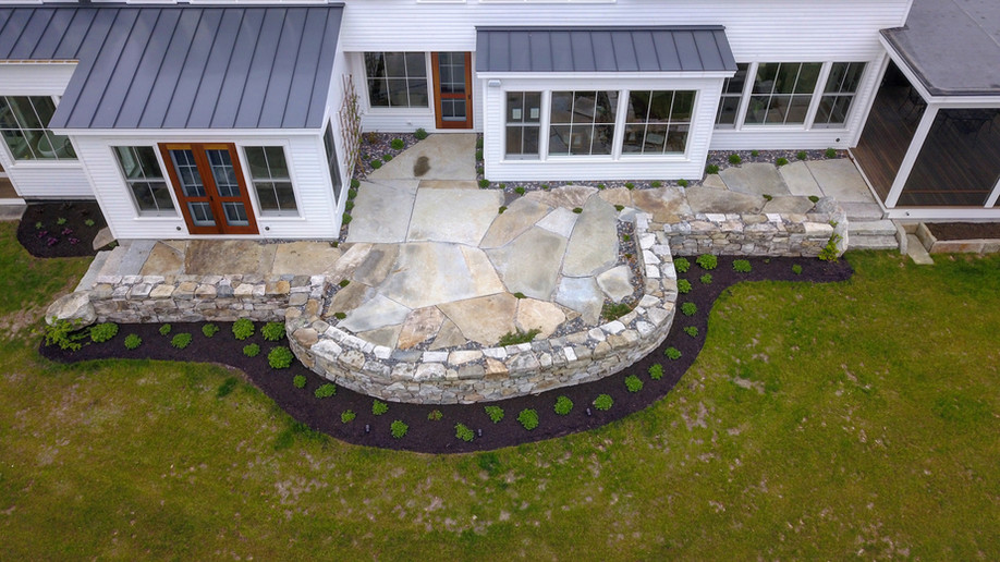 Oak Hill Flagstone Patios completed for our clients in Yarmouth, 2017 & Cumberland, 2016