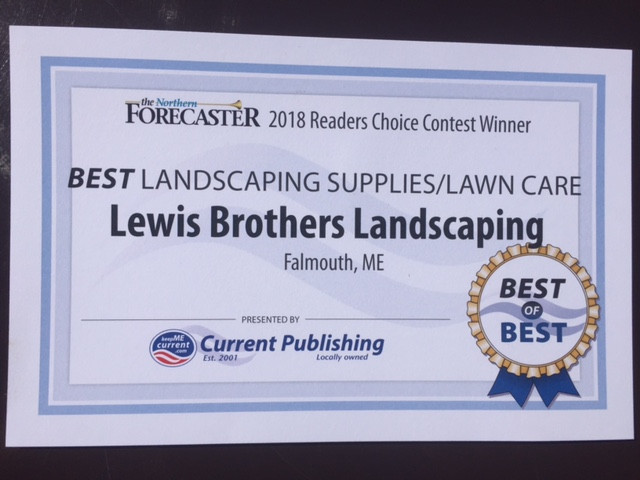 Second year in a row, 2018 Readers Choice Contest Winner for Best Landscaping Supplies/Lawn Care. Th