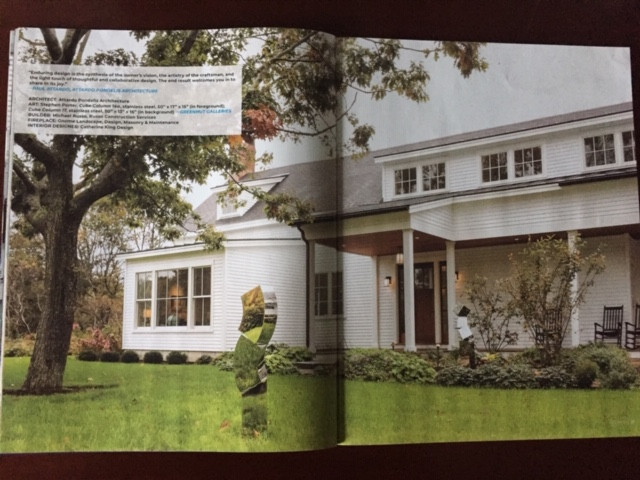 Landscaping client in Yarmouth featured in Art Maine 2019 Annual Guide page 26-27