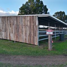 Open steel stables