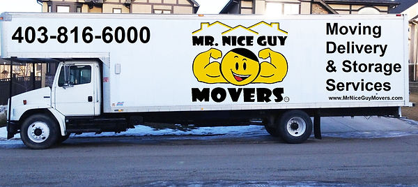 Mr. Nice Guy Movers truck