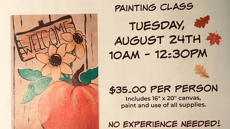 Painting Class August 24, 2021