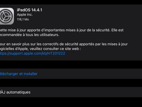 Apple a publié iOS 14.4.1, watchOS 7.3.2 et macOS Big Sur 11.2.3 avec des mises à jour de sécurité
