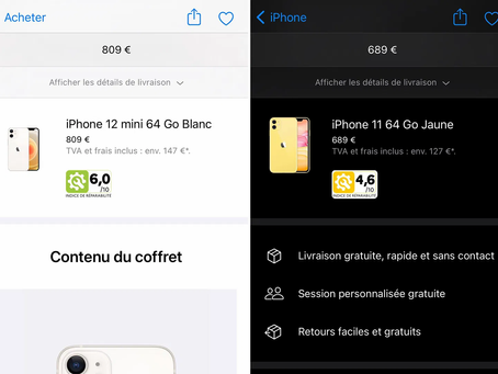 Apple affiche l'indice de réparabilité des iPhone et Mac en France