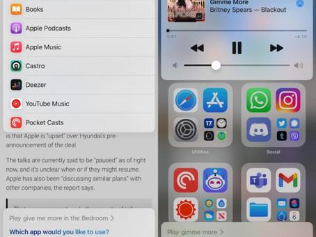 iOS 14.5: vous pouvez choisir l'application de musique par défaut avec Siri