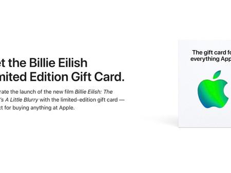 """Apple vend une carte cadeau édition limitée """"Billie Eilish"""" (US only)"""