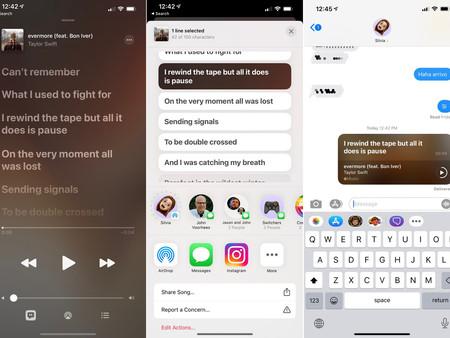 iOS 14.5 bêta 2: les abonnés Apple Music peuvent partager les paroles d'une chanson