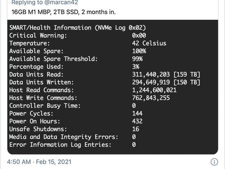 Mac M1: utilisation excessive du SSD chez certains utilisateurs