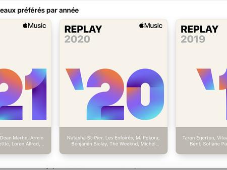 """Apple Music: la playlist """"Replay 2021"""" est maintenant disponible"""