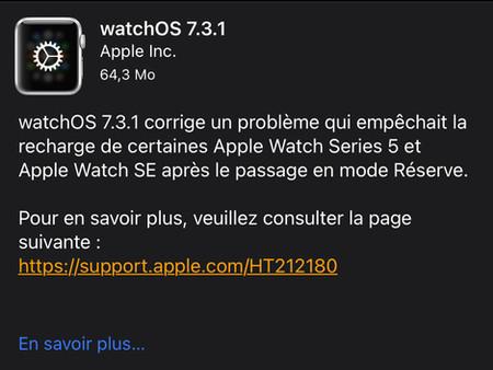 watchOS 7.3.1 est disponible et apporte un correctif pour l'Apple Watch Series 5 et l'Apple Watch SE
