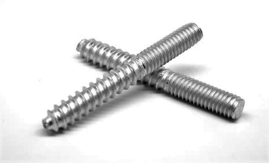 "HB4X38BSS 4""Overall Zinc Hanger Bolts 3/8"" Thread (Pack 10)"