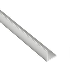 "ICRCH11BS Brushed Stainless Corner-Moulding 1""x 1"" Extrusion 144"" Len"