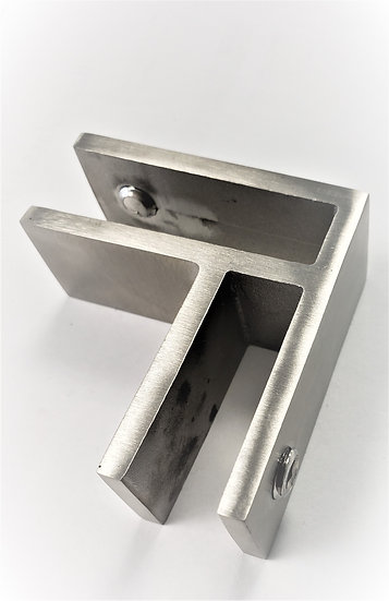 """ISSPFEB90 900-Degree Slim Glass Clamp For 3/8""""-1/2"""" Glass SS316"""