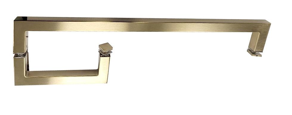 """ITB6X18EDBG Brush Gold  Square 6""""x18"""" Towel Bar Combination"""