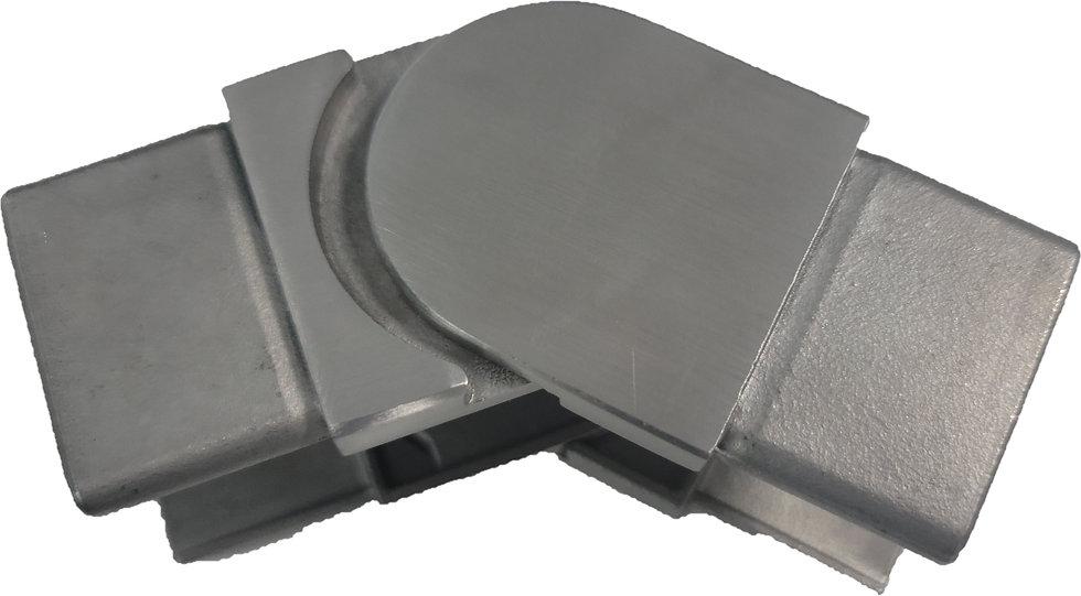 IEBVADJ40CAPBS Adjustable Square Cap Rail 40 x 40mm Handrail Connector SS316