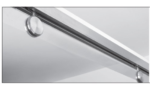 ISLHAWATOPM01BS Brushed Stainless Top Hung Single Door Sliding For Glass Doors