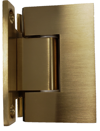 H-ISH111EDBG Brushed Gold Square Wall To Glass Hinge (H Plate)