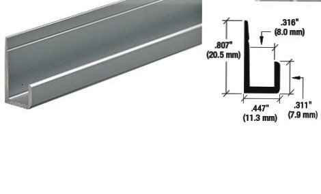 "IBJCH1316BA12 Chrome Polish Bottom J-Channel 144"" Length"