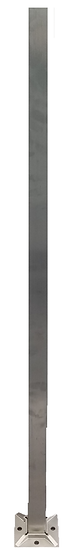 """IPSQ40S42316 Square Stainless Steel Post Height- 42"""" SS316"""