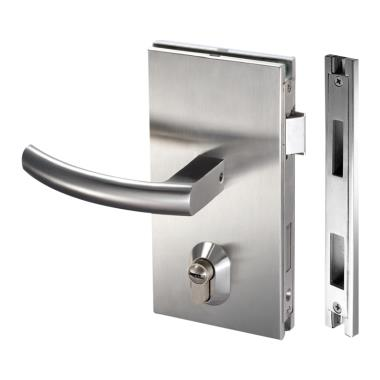 ISPLML11BS Brushed Stainless Center Lock Wall To Glass Lock For 10-12mm