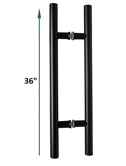 """IGH5524X24BL Matte Black CTC 24"""" Ladder Back-to-Back Pull Overall 36"""""""