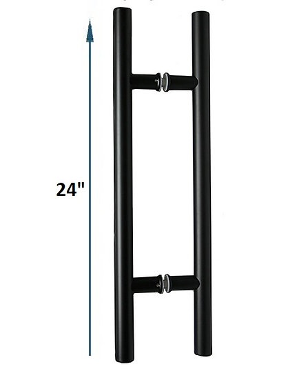 """IGH5512X12BL Matte Black CTC 12"""" Ladder Back-to-Back Pull Overall 24"""""""
