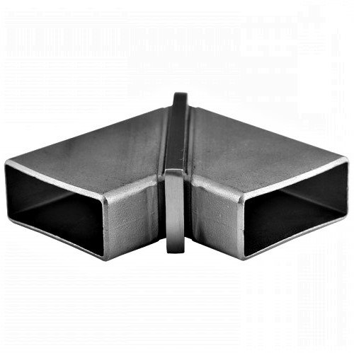 """IEB90F12024S 90 DEGREE RECTANGULAR ELBOW FOR 2"""" x 1"""" TUBING SS304"""