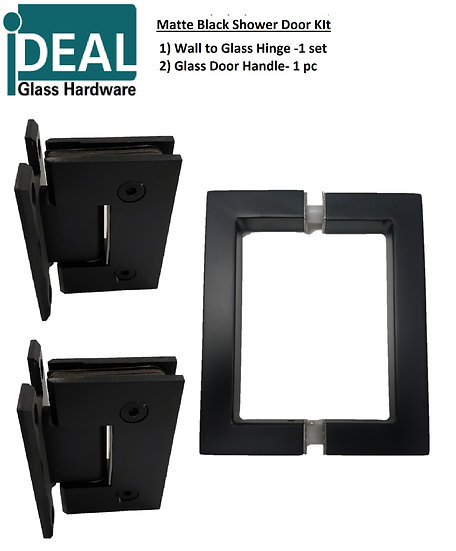 ISDWMBMKIT Shower Door Wall Mount Matte Black Kit