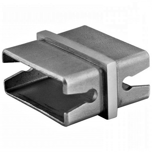 "ICONREC1204S Straight Rectangle Connector For 2""x1"" Handrail SS304"