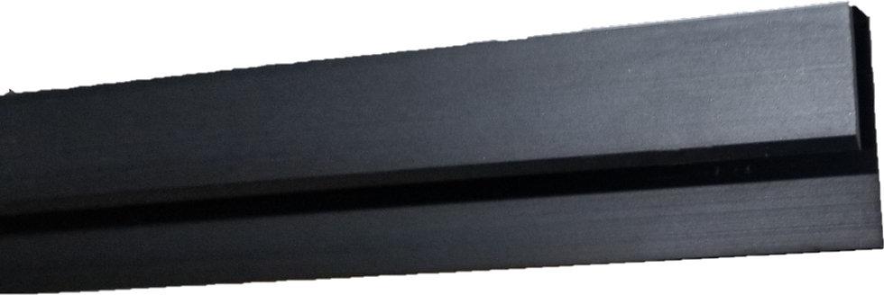 "ITJCU158BL12 Matte Black Top J-Channel 144"" Length"