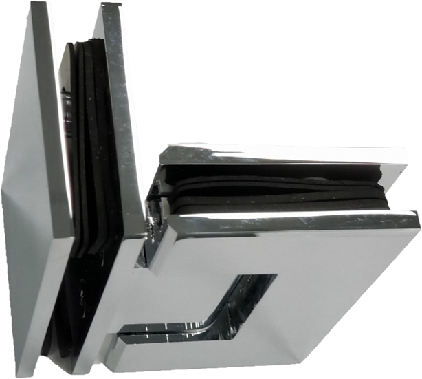 ISH44EDCP Chrome Plated Glass to Glass 90 Degree Hinge