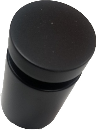 "ISO112112CBL Matte Black Standoff Base 1-1/2"" X 1-1/2"" SS316 With Cap"