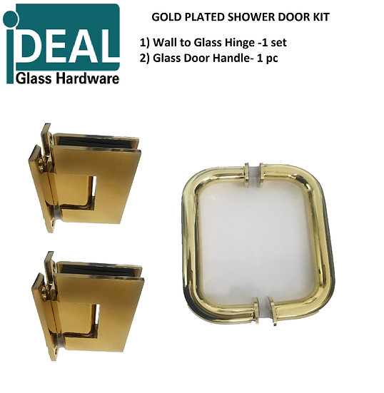 ISDWMGPKIT Shower Door Wall Mount Gold Plated Kit