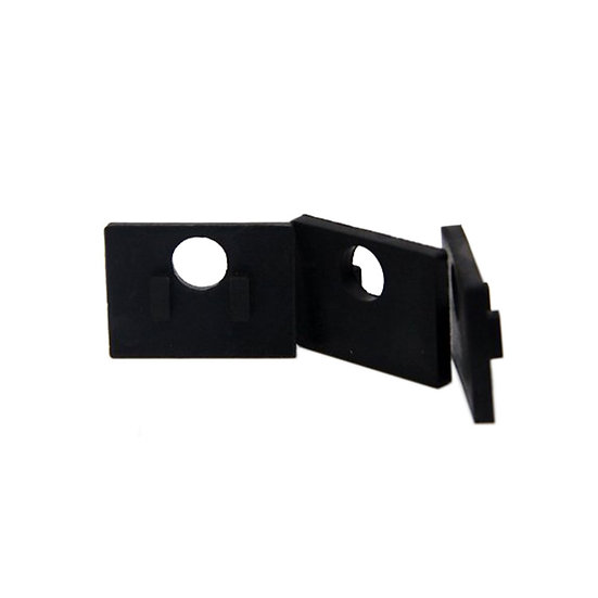 IGSMSQ10MM  SMALL SQUARE GLASS CLIP RUBBER FOR 10MM GLASS
