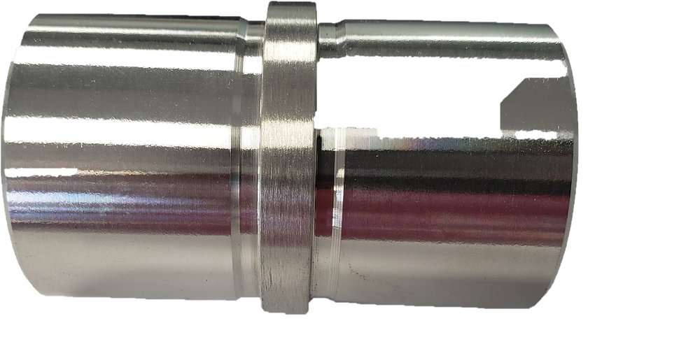 ICONR42404S Straight Round Connector For 42.4mm Tube SS304