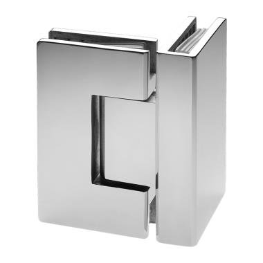 ISH444EDBN Glass to Glass 90 Degree Hinge Brushed Nickel