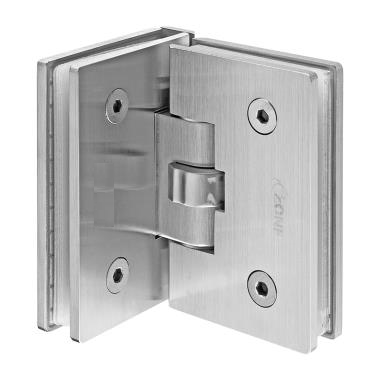 IDHSC4 Brushed Stainless Glass To Glass 90 Degree Self Closing Hinge